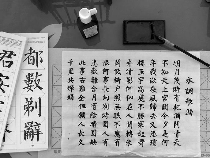 Chinesisch lernen schriftzeichen kalligraphie
