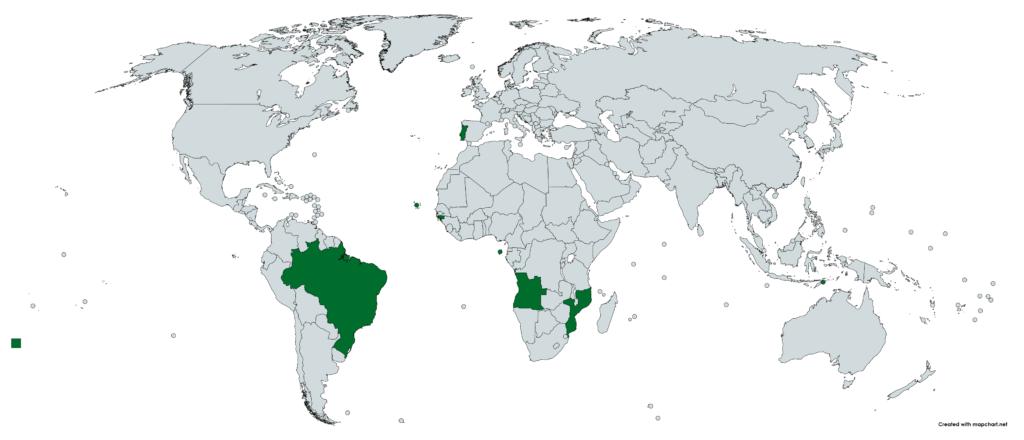 Lusophone Welt Portugiesisch Amtssprache